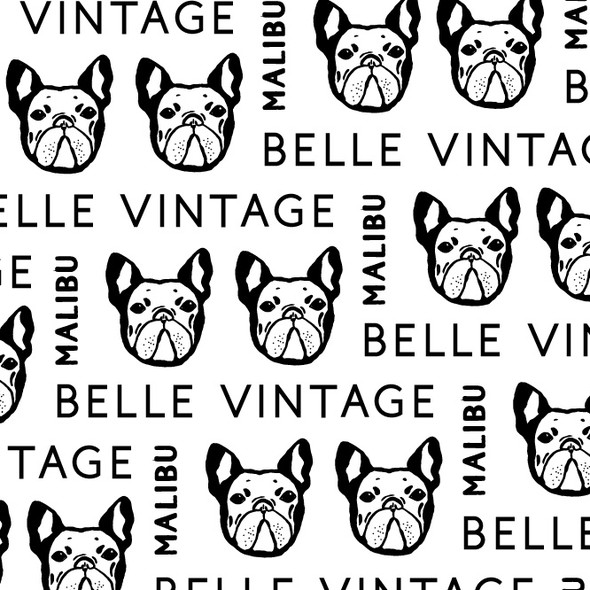 Marker logo with the title 'Vintage Frenchie logo'