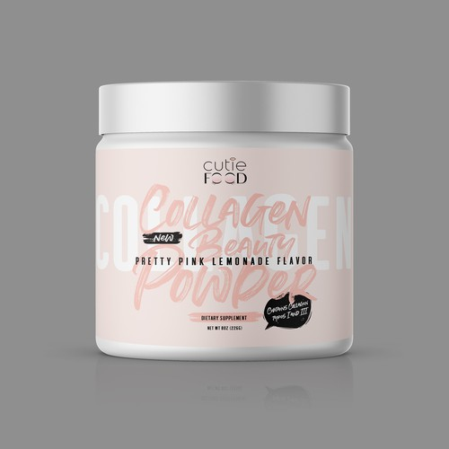 Beauty label with the title 'COLLAGEN BEAUTY PODER'