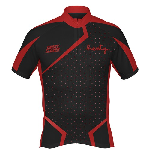 Cycling kit design with the title 'Simple Cycling Kit Design For Henty'