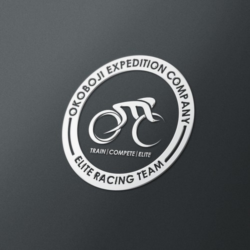 PNG design with the title 'Create a logo for an Elite triathlon, running, and cycling team!'