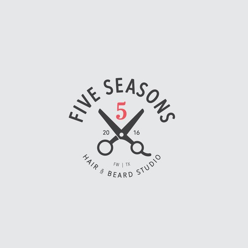 Shaving design with the title 'Five Seasons'