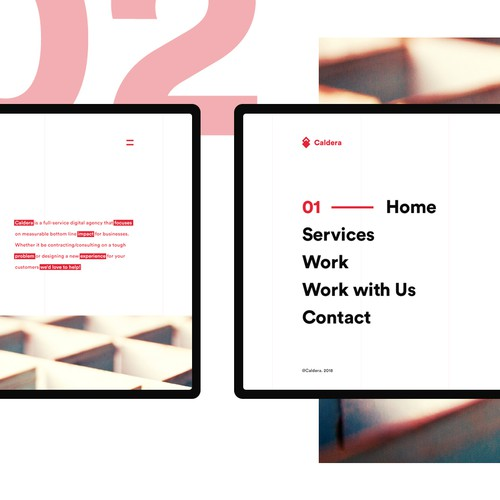 Cool website with the title 'Caldera web design'