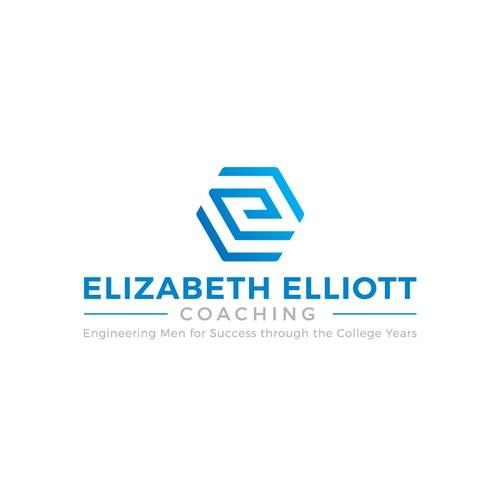 Arrowhead design with the title 'Elizabeth Elliot Coaching Logo'