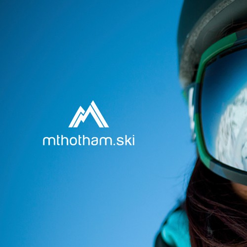Skiing design with the title 'Logo for Ski Resort Accomodation'