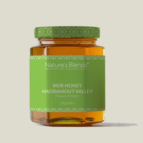 Honey packaging with the title 'Nature and bio packaging'