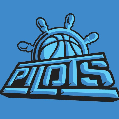 Pilot logo with the title 'Logo and Type design for basketball team'