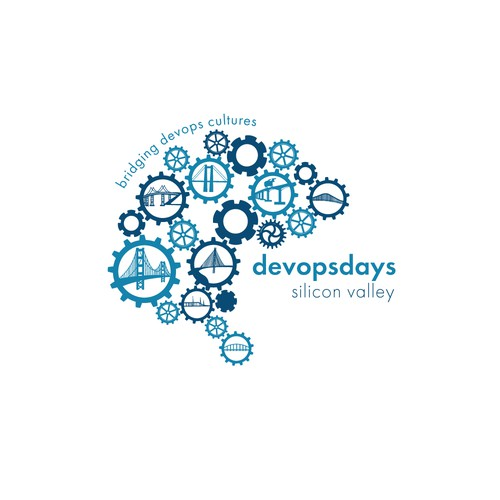 Gear logo with the title 'Event Logo for Devopsdays Silicon Valley'
