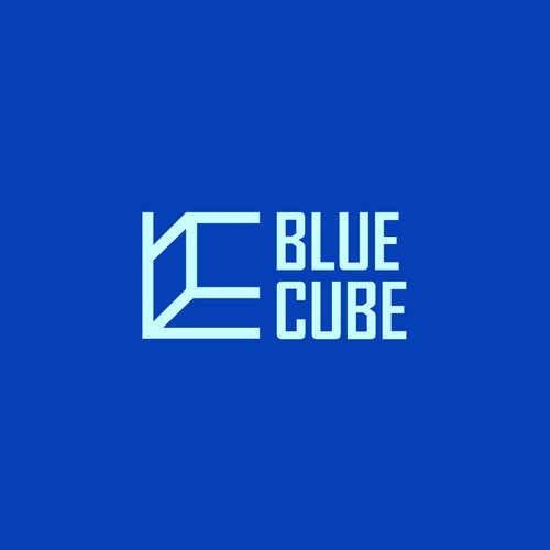 3D logo with the title 'blue cube'