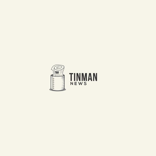 Newspaper design with the title 'logo for TINMAN NEWS'