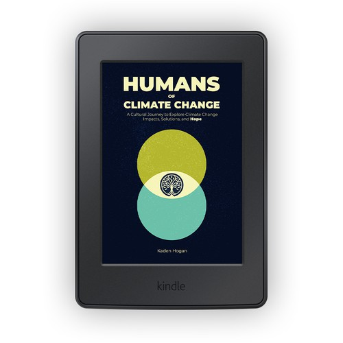 Climate change design with the title 'Humans of Climate Change'