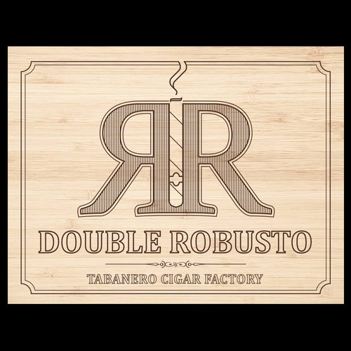 Cuba design with the title 'Double Robusto Cigars Box'