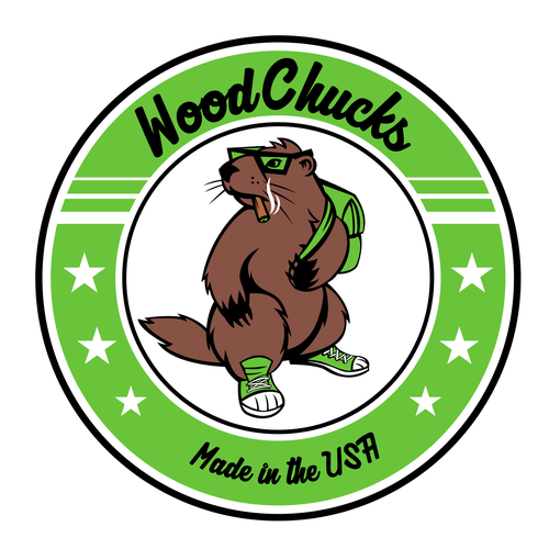 Smoking logo with the title 'WoodChucks -disposable flavored pipes'
