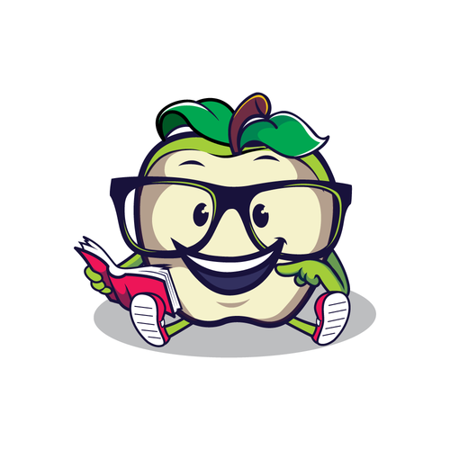 Pen design with the title 'apple mascot'