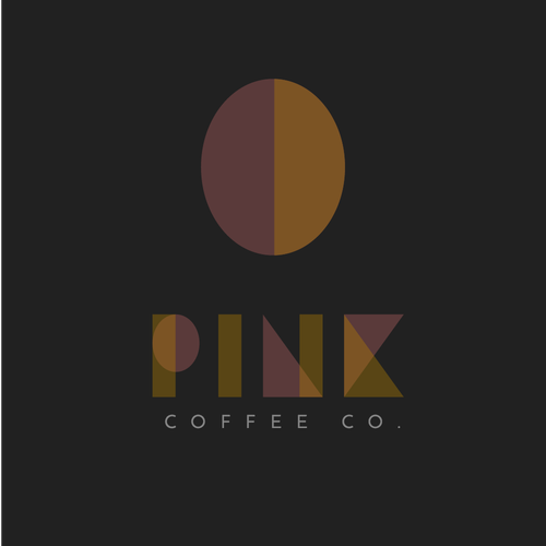 Striking logo with the title 'Pink Coffee'