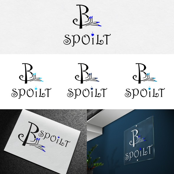 Nail polish design with the title 'B Spoilt'