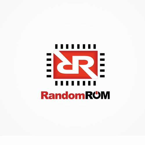 Computer logo with the title 'Random Rom'