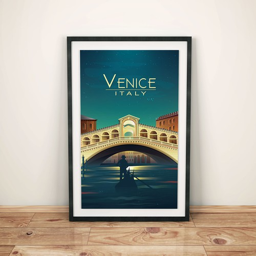 Environment artwork with the title 'Poster Venice'