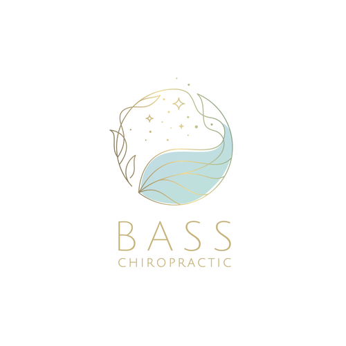 Chiropractic design with the title 'Bass Chiropractic logo'
