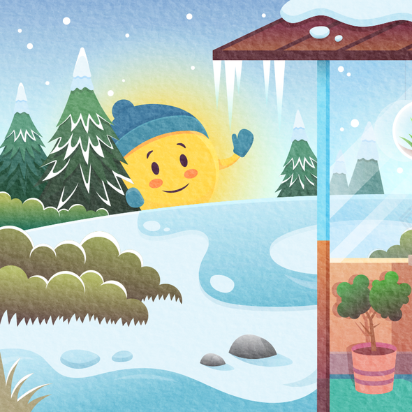 Winter illustration with the title 'Newsletter image'