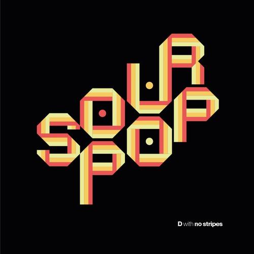 Striking logo with the title 'SourPop Kombucha '
