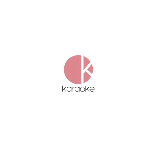 Karaoke logo with the title 'OK Karaoke logo proposal.'