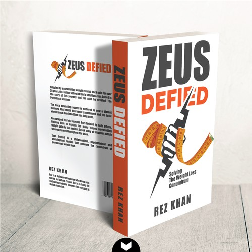 Weight-loss book cover with the title 'Zeus Defied'