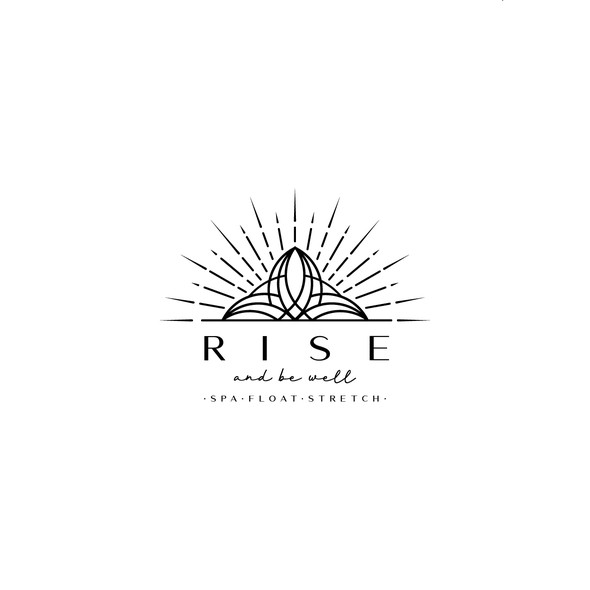 Thrive logo with the title 'Rise be well logo'