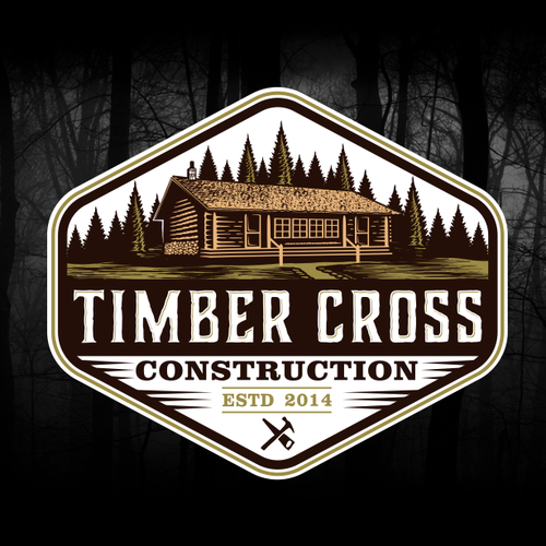 Wood logo with the title 'Timber Cross'