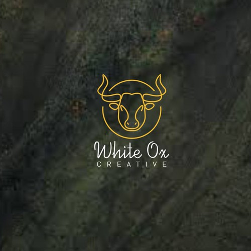 Ox design with the title 'White Ox Creative'