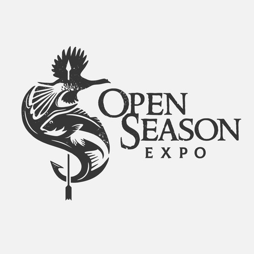 "Fish logo with the title 'Logo for ""Open Season Expo""'"