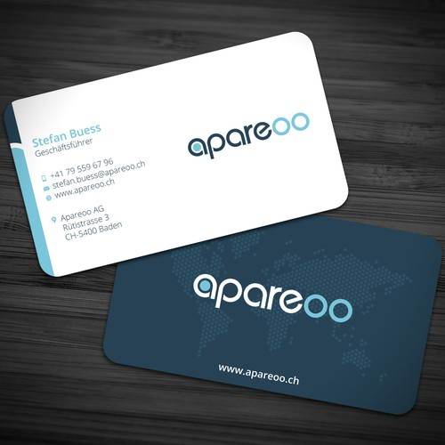 Crisp design with the title 'Business Card for Apareoo'