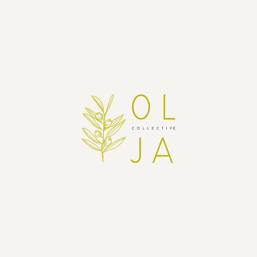 Olive oil design with the title 'OLJA'