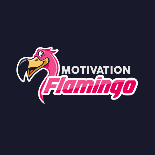 Inspirational design with the title 'Motivation Flamingo'