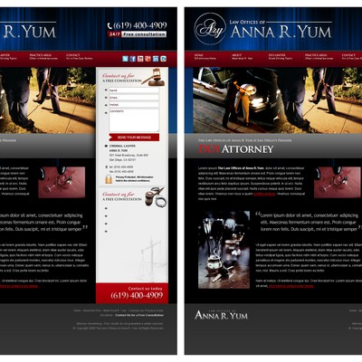 Website Banner Re-design for Law Offices of Anna R. Yum website