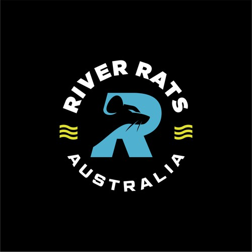 Rat logo with the title 'Winner of River Rats Australia Contest'