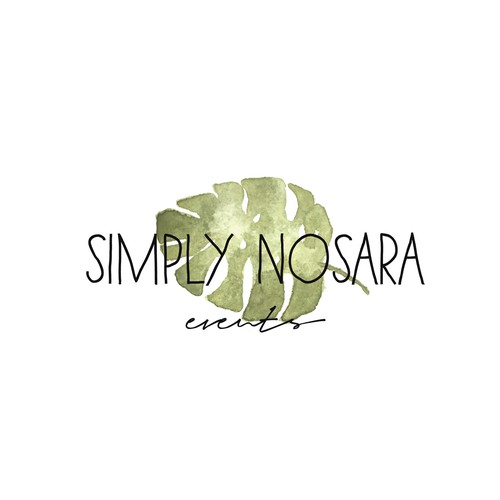 Tropical logo with the title 'Boho chic logo for a wedding planner'