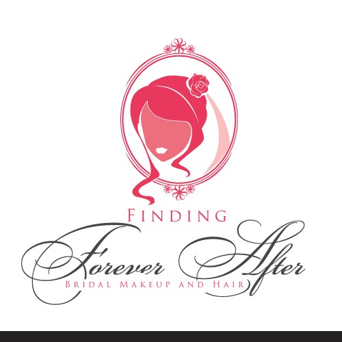 Hair extension logo with the title 'Create the next AMAZING logo for Finding Forever After - Bridal Makeup and Hair'