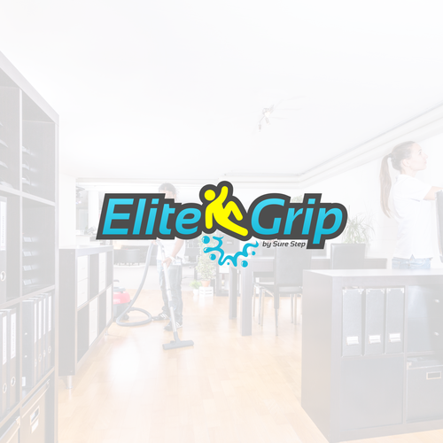 Cleaning company logo with the title 'Elite Grip Logo Designs'
