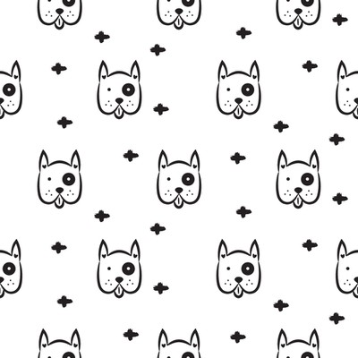 Dog seamless pattern