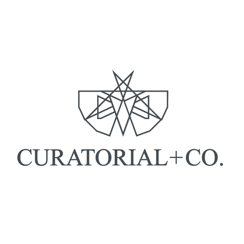 Art logo with the title 'Art/design company - Curatorial and Co'