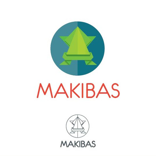 Origami brand with the title 'Makibas Logo'