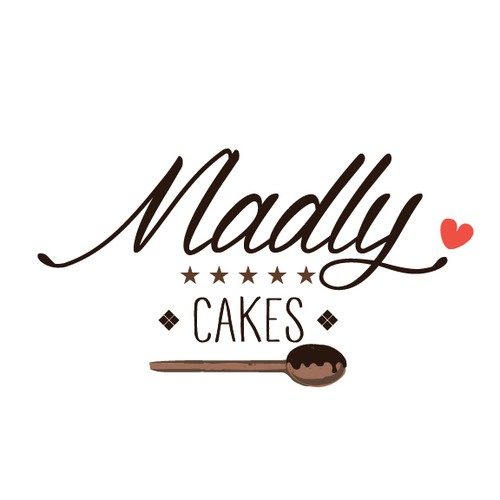 Confectionery logo with the title 'Logo for a cake shop'