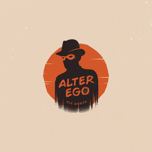 Comic logo with the title 'Alter Ego Ale Works'