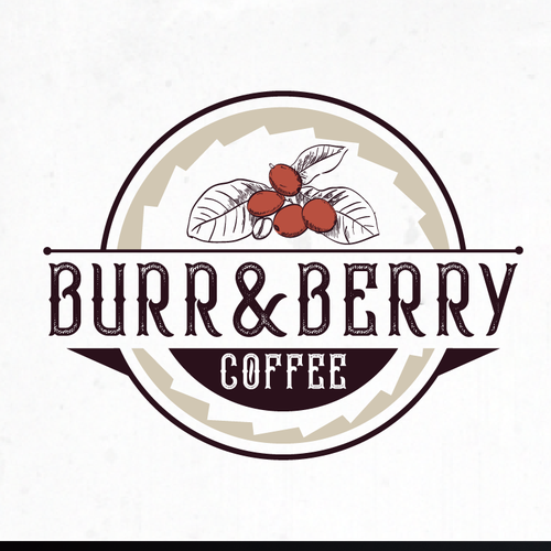 Berry design with the title 'logo concept for coffee bar'