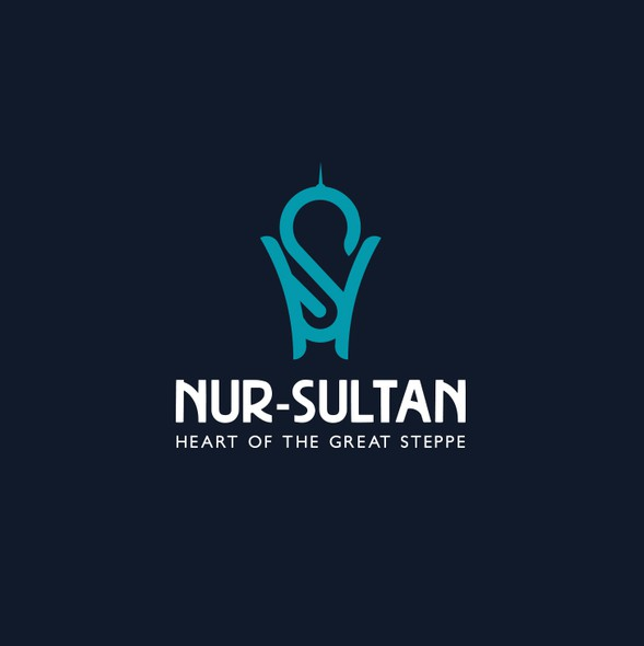 Landmark design with the title 'Modern logo for the capital of Kazakhstan, Nur-Sultan'