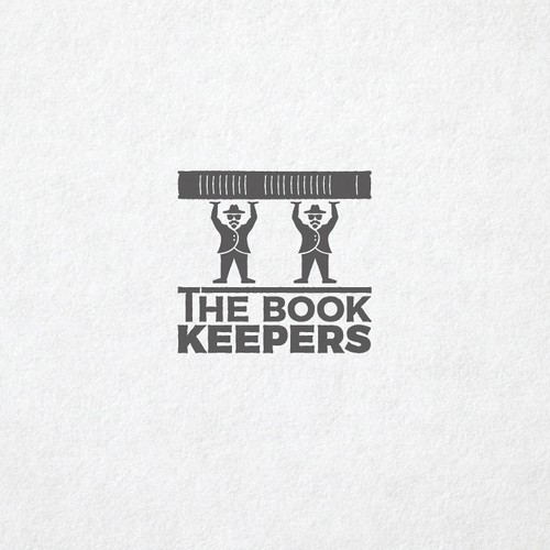 Documentary logo with the title 'The Book Keepers'