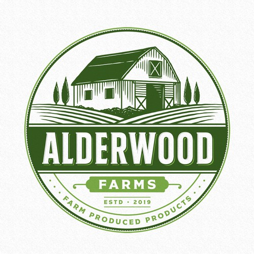 Green logo with the title 'Alderwood Farms'