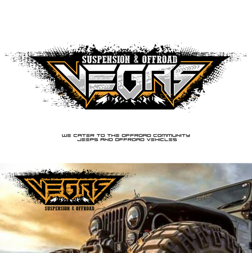 Off-road design with the title 'Vegas Offroad logo'