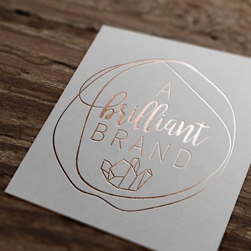 Brilliant design with the title 'A Brilliant Brand logo'