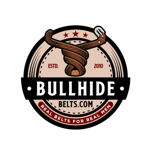 Bull logo with the title 'Bold Bull Logo for Company That Sells Leather Belts '